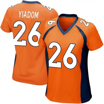 Women's Denver Broncos Isaac Yiadom Orange Game Team Color Jersey By Nike