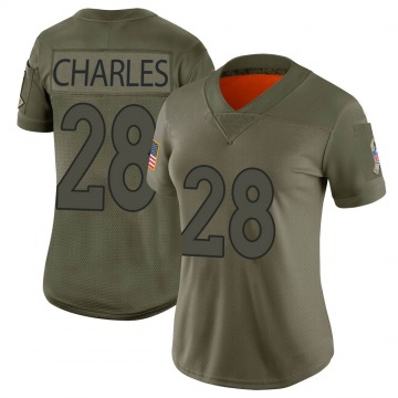 Women's Denver Broncos Jamaal Charles Camo Limited 2019 Salute to Service Jersey By Nike
