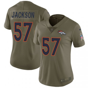 Women's Denver Broncos Tom Jackson Olive Limited 2017 Salute to Service Jersey By Nike