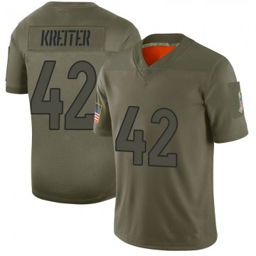 Youth Denver Broncos Casey Kreiter Camo Limited 2019 Salute to Service Jersey By Nike