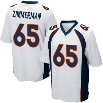 Youth Denver Broncos Gary Zimmerman White Game Jersey By Nike