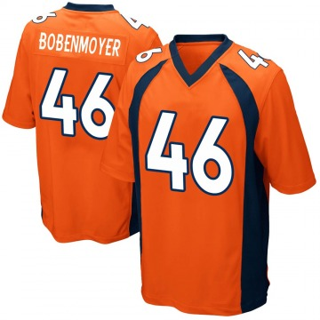 Youth Denver Broncos Jacob Bobenmoyer Orange Game Team Color Jersey By Nike
