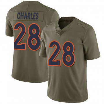 Youth Denver Broncos Jamaal Charles Green Limited 2017 Salute to Service Jersey By Nike