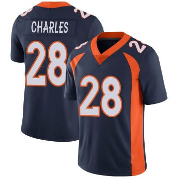 Youth Denver Broncos Jamaal Charles Navy Limited Vapor Untouchable Jersey By Nike