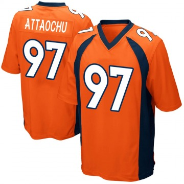 Youth Denver Broncos Jeremiah Attaochu Orange Game Team Color Jersey By Nike