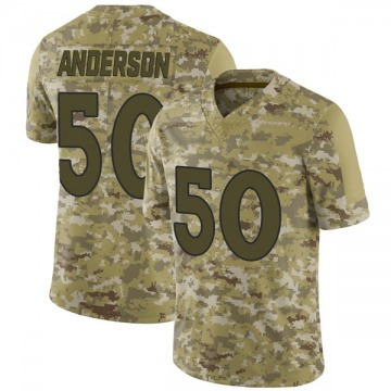 Youth Denver Broncos Zaire Anderson Camo Limited 2018 Salute to Service Jersey By Nike